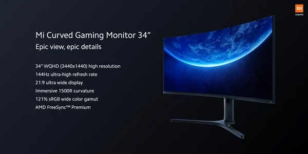 Mi Curved Gaming Monitor 34-inch
