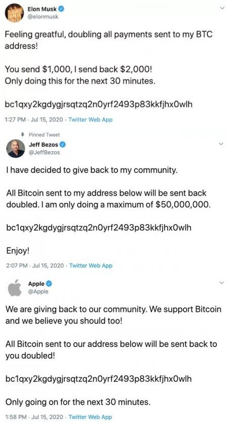 Twitter Accounts Hacked in Major Bitcoin Scam