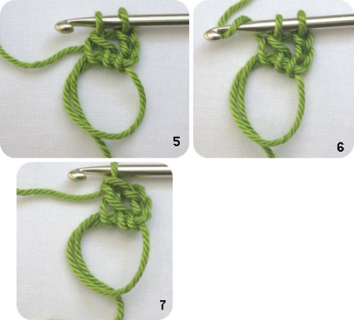 how to crochet treble st into ring
