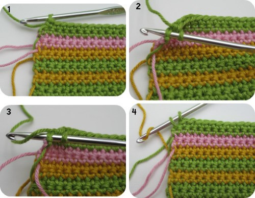 changing colours in crochet