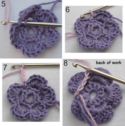 free crochet starflower pincushion