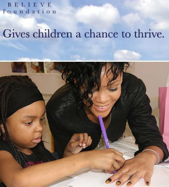 rihanna believe fundação