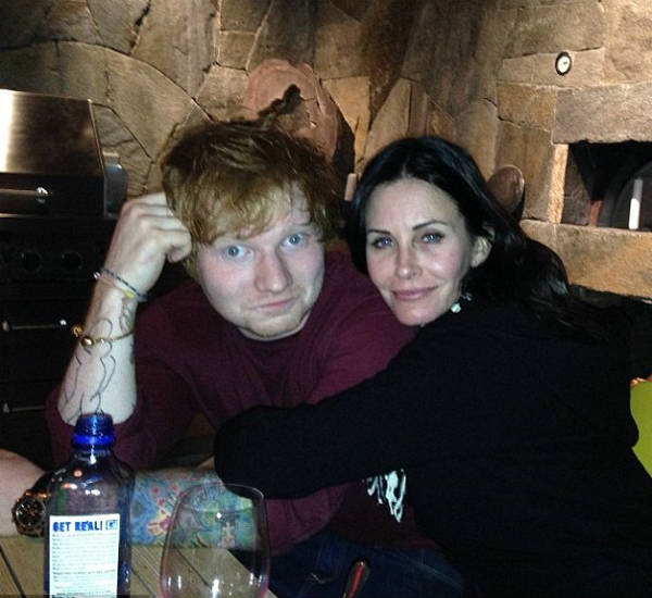 ed sheeran courtney cox