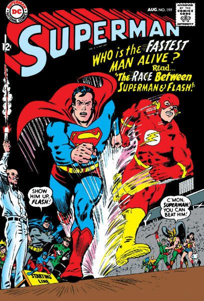 superman corrida flash