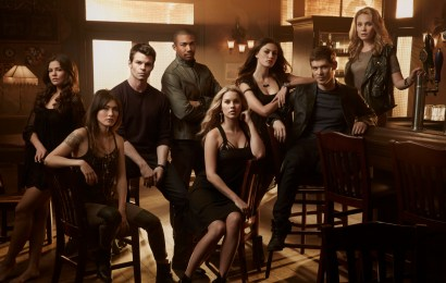 The Originals -- Image Number: OR01_AS_8Shot_Courtyard_0324 -- Pictured (L-R): Danielle Campbell as Davina, Daniella Pineda as Sophie, Daniel Gillies as Elijah, Charles Michael Davis as Marcel, Claire Holt as Rebekah, Phoebe Tonkin as Hayley, Joseph Morgan as Klaus and Leah Pipes as Cami -- Photo: Art Streiber/The CW -- © 2014 The CW Network, LLC. All rights reserved.