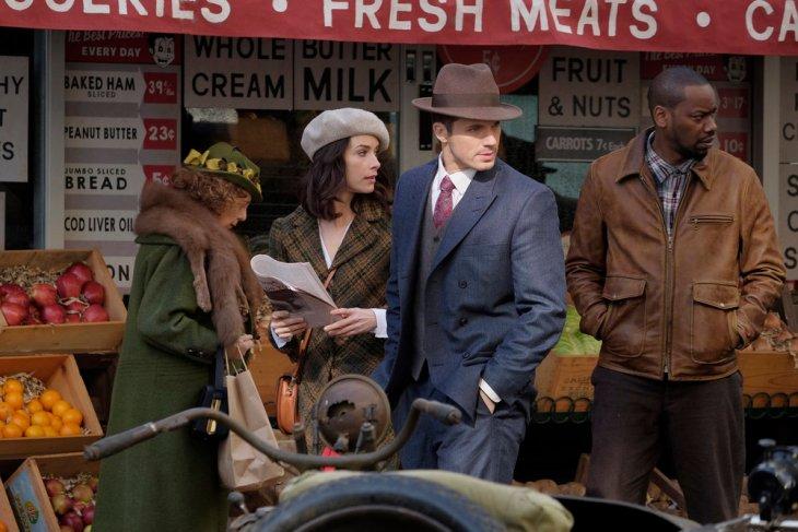 "TIMELESS -- ""Pilot"" -- Pictured: (l-r) Abigail Spencer as Lucy Preston, Matt Lanter as Wyatt Logan, Malcolm Barrett as Rufus Carlin -- (Photo by: Joe Lederer/NBC)"
