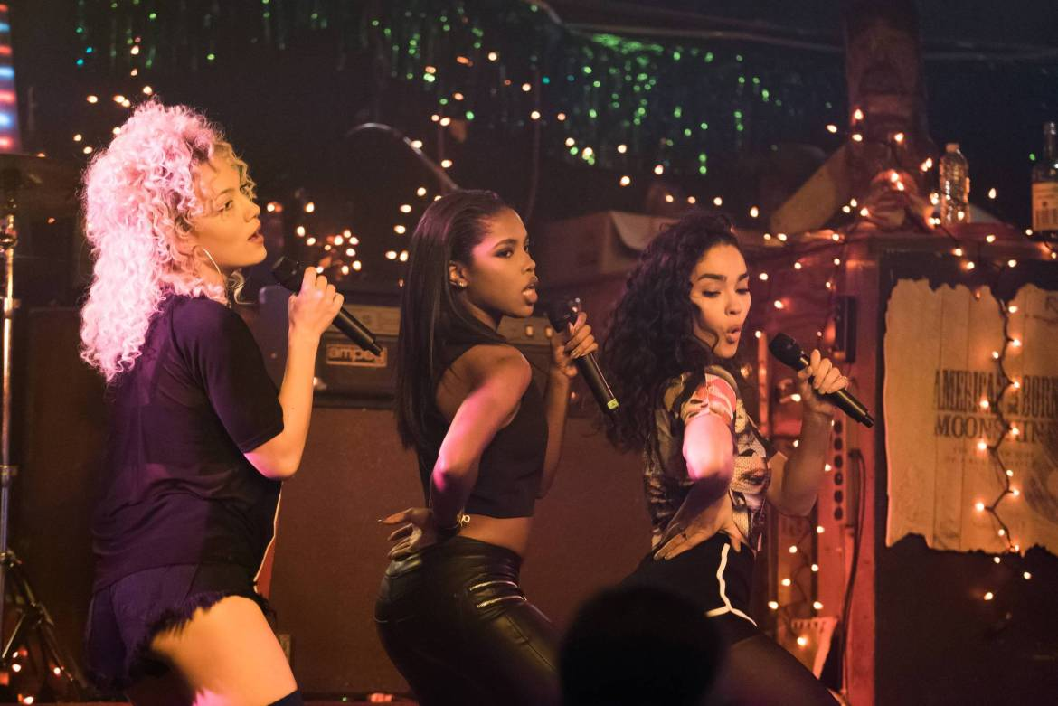 STAR: Pictured L-R: Jude Demorest, Ryan Destiny and Brittany O'Grady in the special premiere of STAR airing Wednesday, Dec. 14 (9:00-10:00 PM ET/PT) on FOX. STAR makes its time period with an all-new episode Wednesday, Jan. 4 (9:00-10:00 PM ET/PT) on FOX. ©2016 Fox Broadcasting Co. CR: Annette Brown/FOX