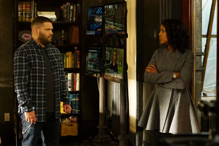 "SCANDAL - ""Mercy"" - Just when Peus' iron grip seems inescapable to Olivia and everyone she holds dear, a shocking threat to the White House turns everything on its head, on ""Scandal,"" airing THURSDAY, APRIL 27 (9:01-10:00 p.m. EDT), on The ABC Television Network. (ABC/Richard Cartwright)"