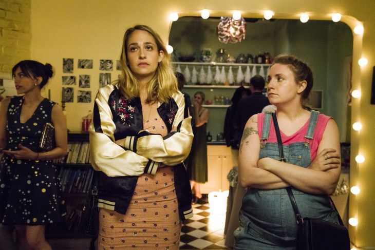 Girls Season 6 Episode 9 - Jemima Kirke, Lena Dunham (Mark Schafer/HBO)