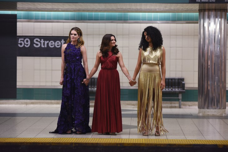"""THE BOLD TYPE - """"Pilot"""" - Inspired by the life of Joanna Coles, chief content officer of Hearst Magazines, """"The Bold Type"""" will have a two-hour premiere on Tuesday, July 11. The show reveals a glimpse into the outrageous lives and loves of those responsible for the global women's magazine, Scarlet. The rising generation of Scarlet women lean on one another as they find their own voices in a sea of intimidating leaders. Together they explore sexuality, identity, love and fashion. (Freeform/John Medland)"""