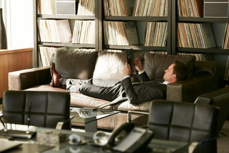 """SUITS -- """"Skin In the Game"""" Episode 701 -- Pictured: Patrick J. Adams as Mike Ross -- (Photo by: Ian Watson/USA Network)"""
