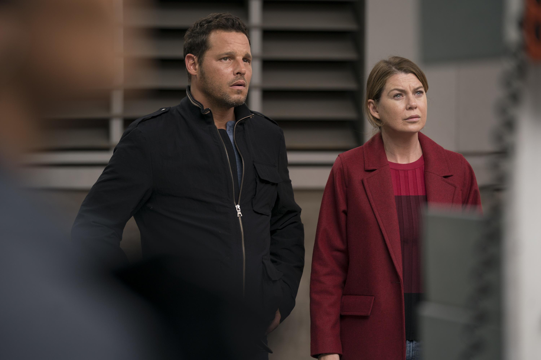 Justin Chambers Ellen Pompeo Greys 300 Greys Anatomy Season 14