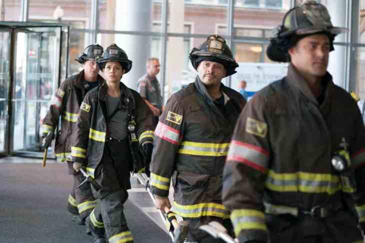 Chicago Fire Season 7 Episode 1 -Miranda Rae Mayo as Stella Kidd, Joe Minoso As Joe Cruz