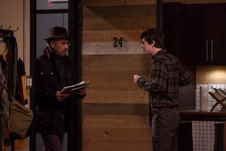 "The Good Doctor Season 2 Episode 8 ""Stories"" RICHARD SCHIFF, FREDDIE HIGHMORE"