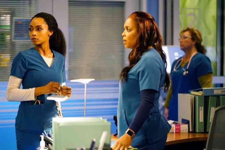 Chicago Med Season 4 Episode 11 - Yaya DaCosta as April Sexton, Marlyne Barrett as Maggie Lockwood
