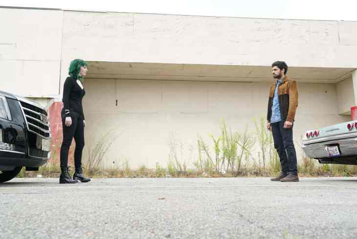 The Gifted Season 2 Episode 10 - Emma Dumont as Lorna Dane / Polaris and Sean Teale as Marcos Diaz / Eclipse