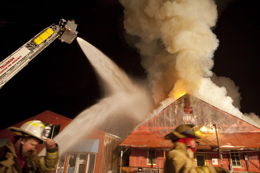 Historic Bakery Burns in Telluride