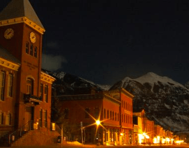 telluride, new year's eve, clock tower