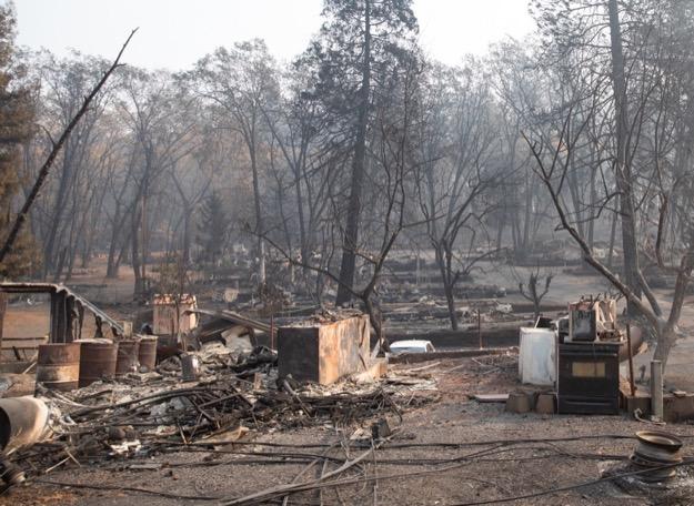 California wildfire ruins