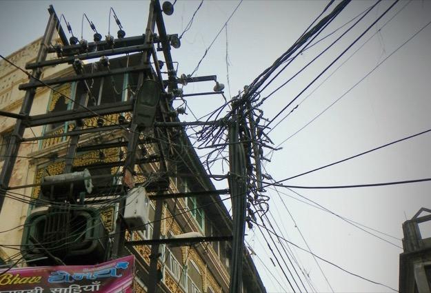 India utility pole