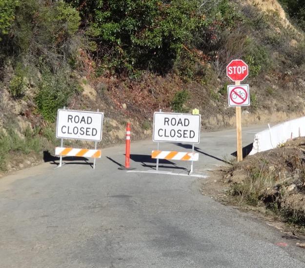 Road closed 625