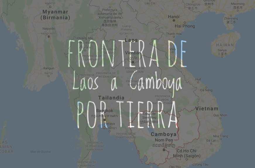 Frontera de Laos a Camboya por tierra