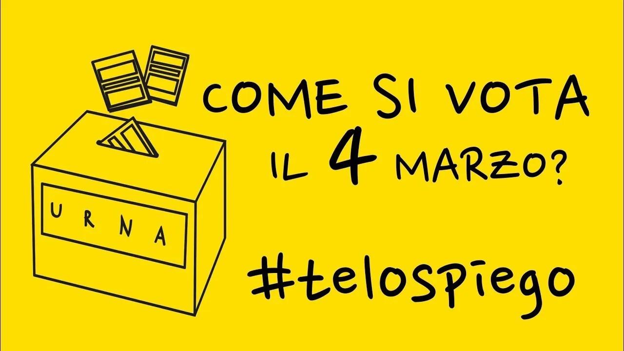 COME SI VOTA CON LA NUOVA LEGGE ELETTORALE? #TELOSPIEGO!