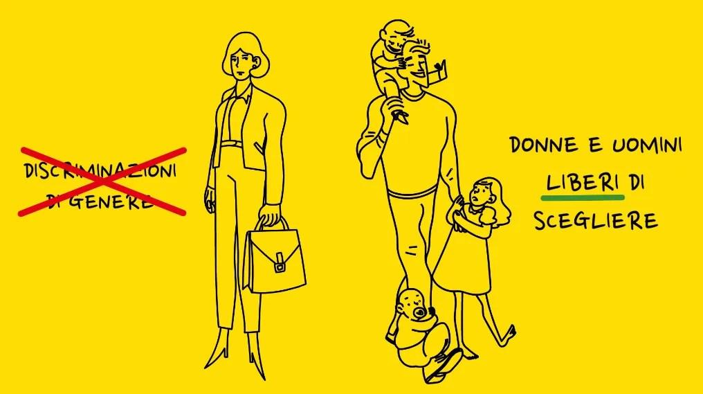 femminismo sostiene donne lavoratrici e papà che vogliono stare coi loro figli