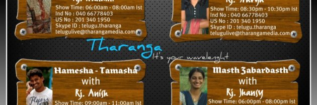 RJ Anish, RJ Nandini, RJ Shravya and RJ Jhansi are now on Tharanga