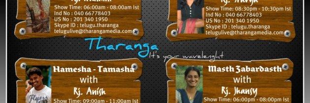 RJ Anish, RJ Nandini, RJ Shravya and RJ Jhansi are now on Tharanga