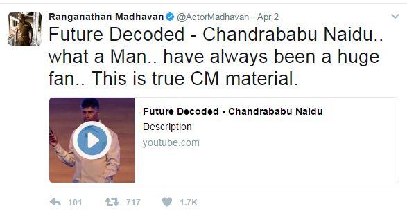 madhavan tweets about ap cm chandrababu
