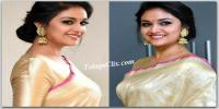 Keerthy Suresh in Saree HD Pics