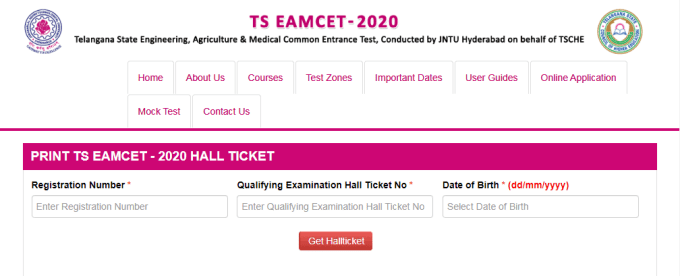 Ts Eamcet Hall Ticket Download 2020
