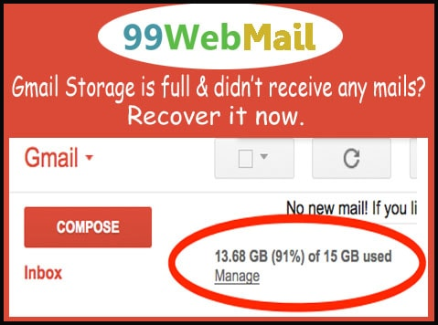 how to manage storage in gmail