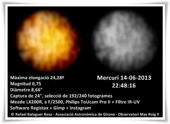 Formacions d'albedo a Mercuri