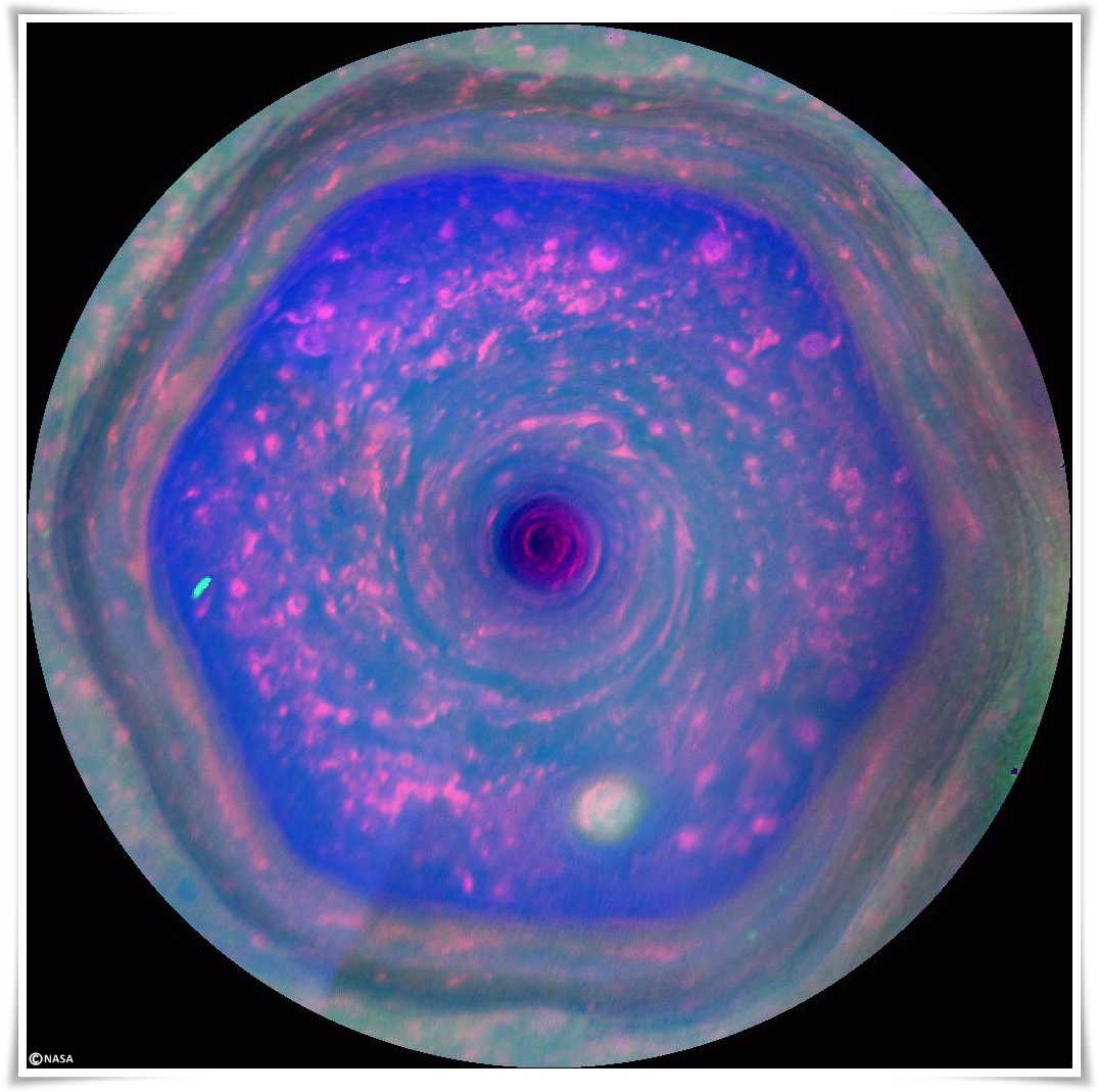 Hexàgon a Saturn, NASA