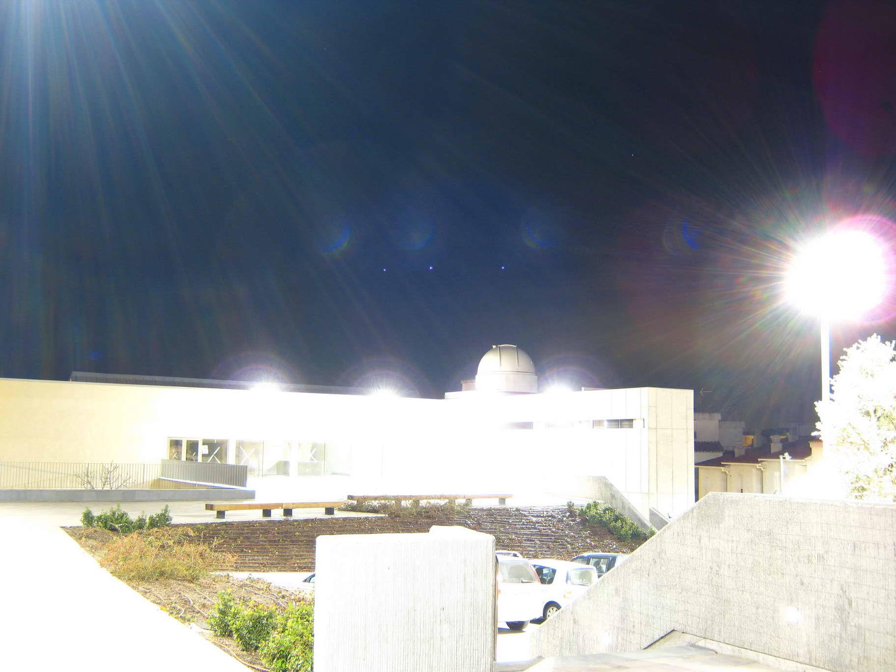 Contaminació lumínica amb 15 segons d'exposició