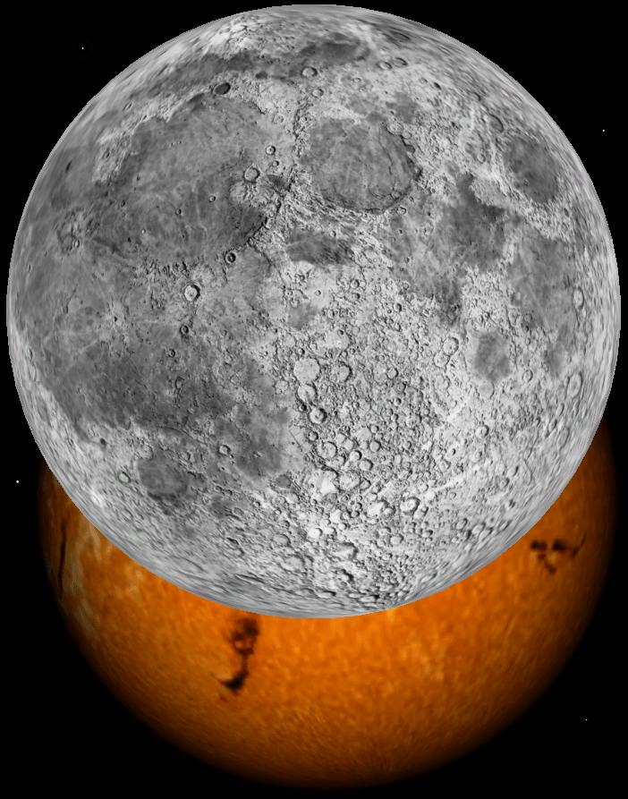 Simulació del moment de màxim enfosquiment del Sol vist des de Llagostera