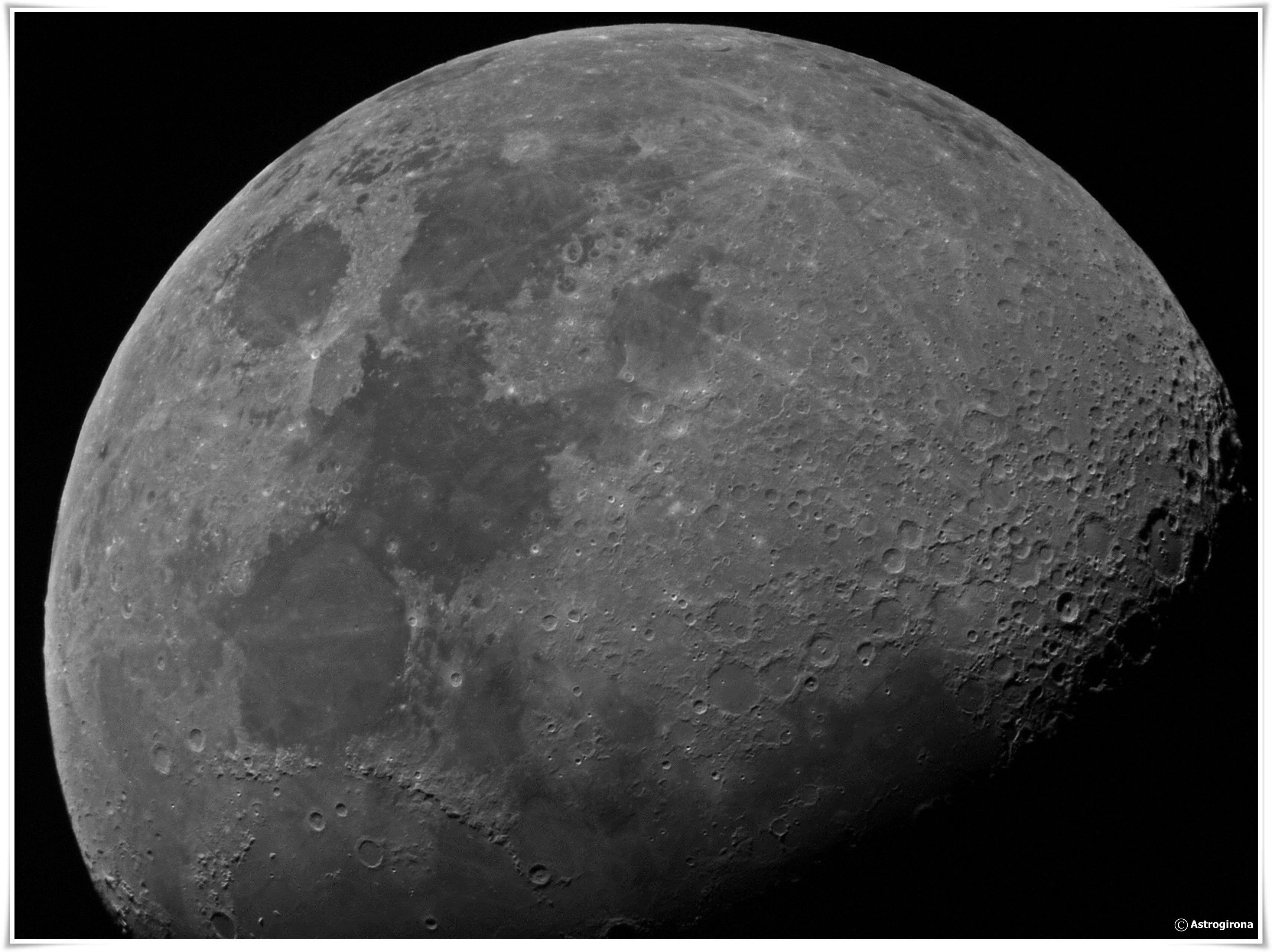 La Lluna amb el telescopi de l'Observatori Can Roig. Rafael Balaguer
