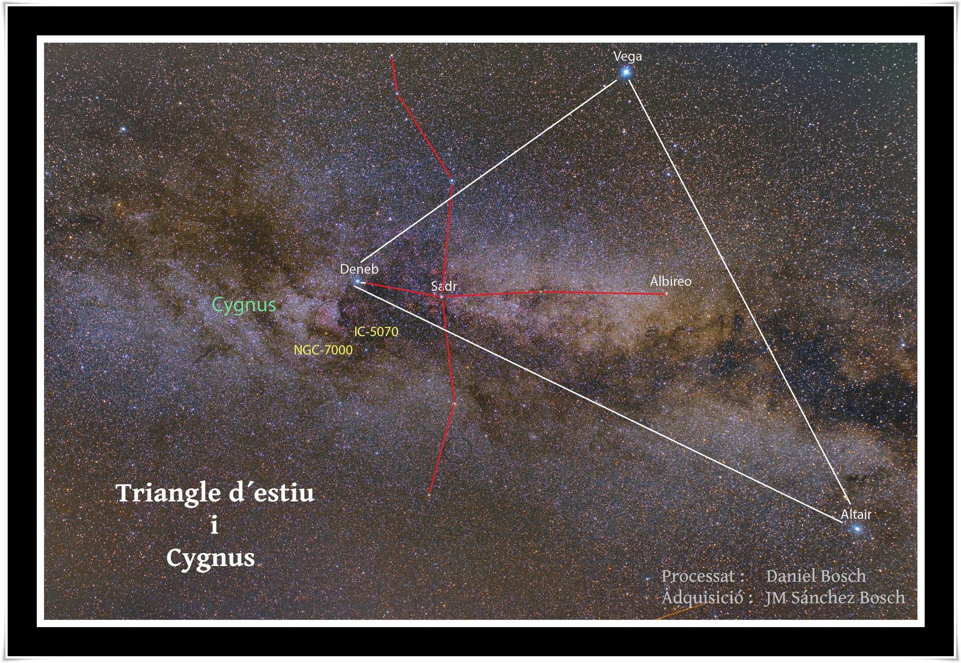 Triangle d'estiu. Fotografia de José Manuel Sánchez Bosch i Daniel Bosch Portell
