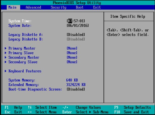 Cara mengatur BIOS