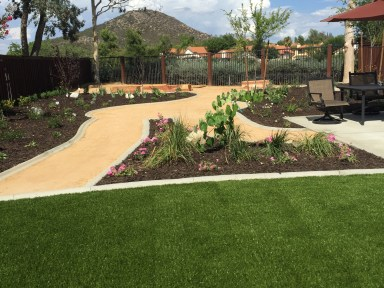 DG Decomposed Granite Pathways and Artificial Turf in Murrieta McCabe's Landscape Construction