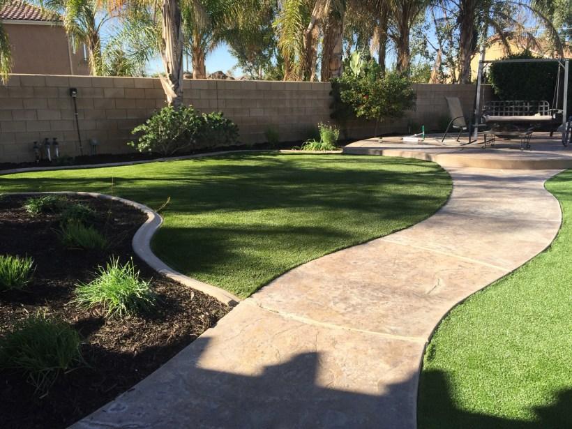 Artificial turf in Corona McCabe's Landscape Construction
