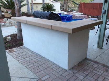 Outdoor kitchen with counter in Temecula McCabe's Landscape Construction