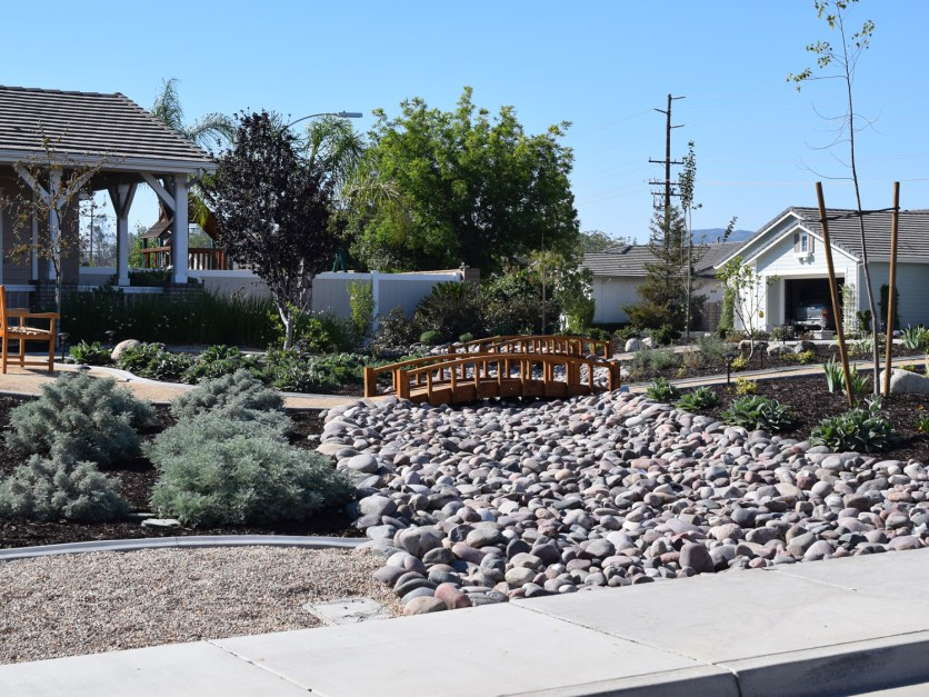 Dry river stream bed in Murrieta McCabe's Landscape Construction