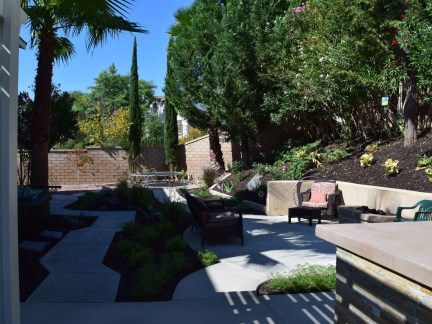Retaining wall and patio space in Temecula McCabe's Landscape Construction
