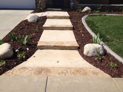 Flagstone edged steps McCabe's Landscape Construction