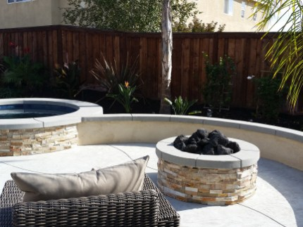 Fire pit and spa