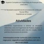 ENGENHARIA EM PRODUTOS (ATE 31/01/2020) – FORTALEZA/CE