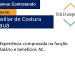 AUXILIAR DE COSTURA – SÃO PAULO/SP